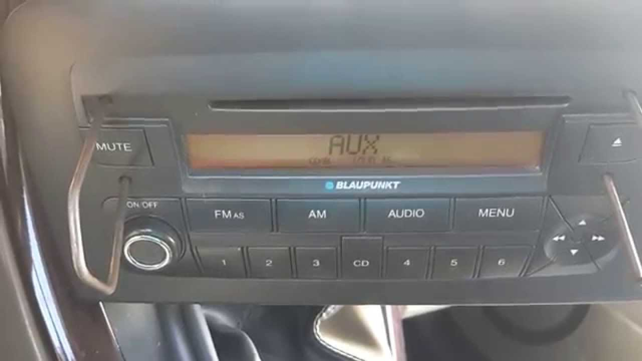 Aux-adapter for Fiat Croma 1.9 mtj (the default blaupunkt radio in ...