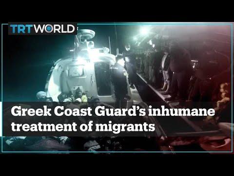 Turkish Coast Guard rescues migrants battered by Greek Coast Guard