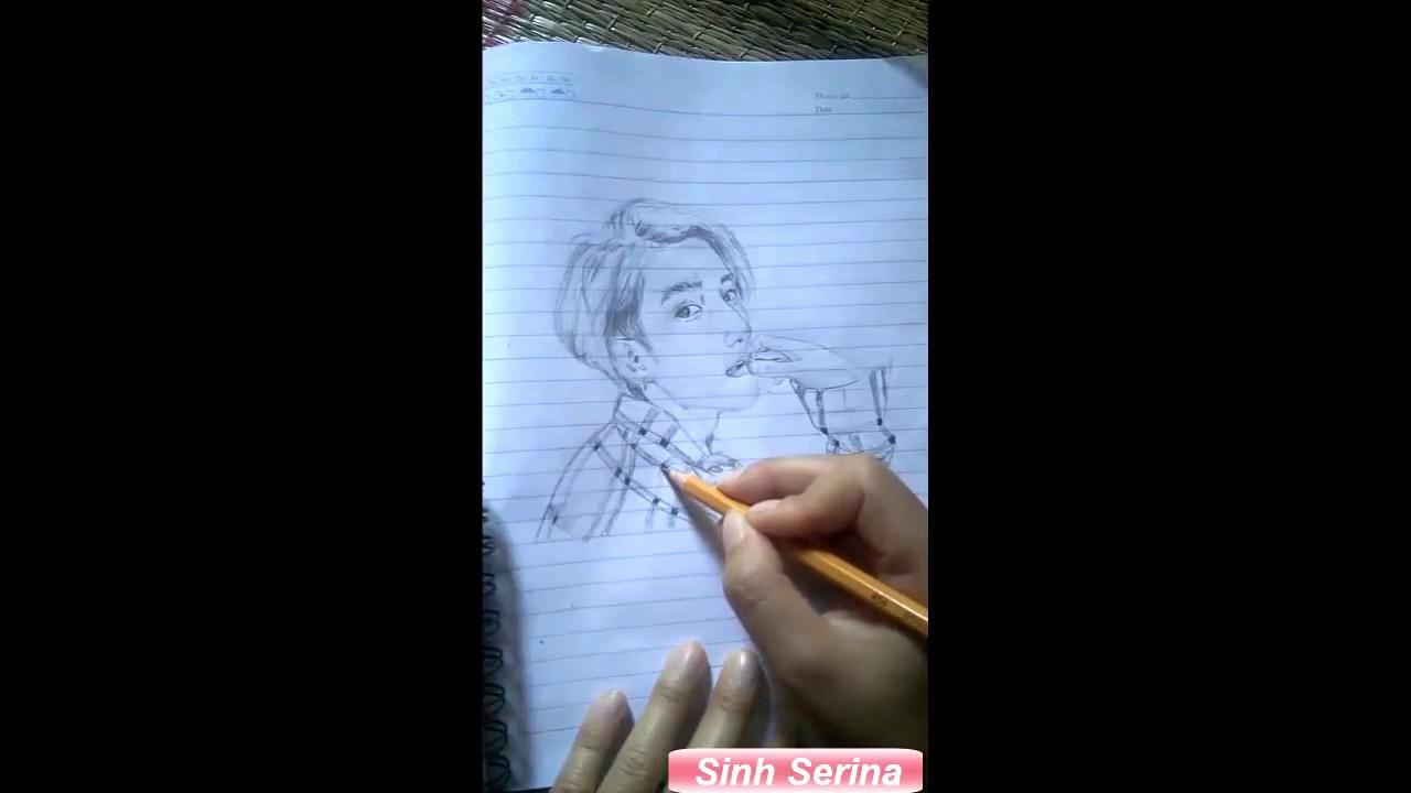 son tung mtp – Vẽ tranh Sơn Tùng MTP bằng bút chì cực đẹp.