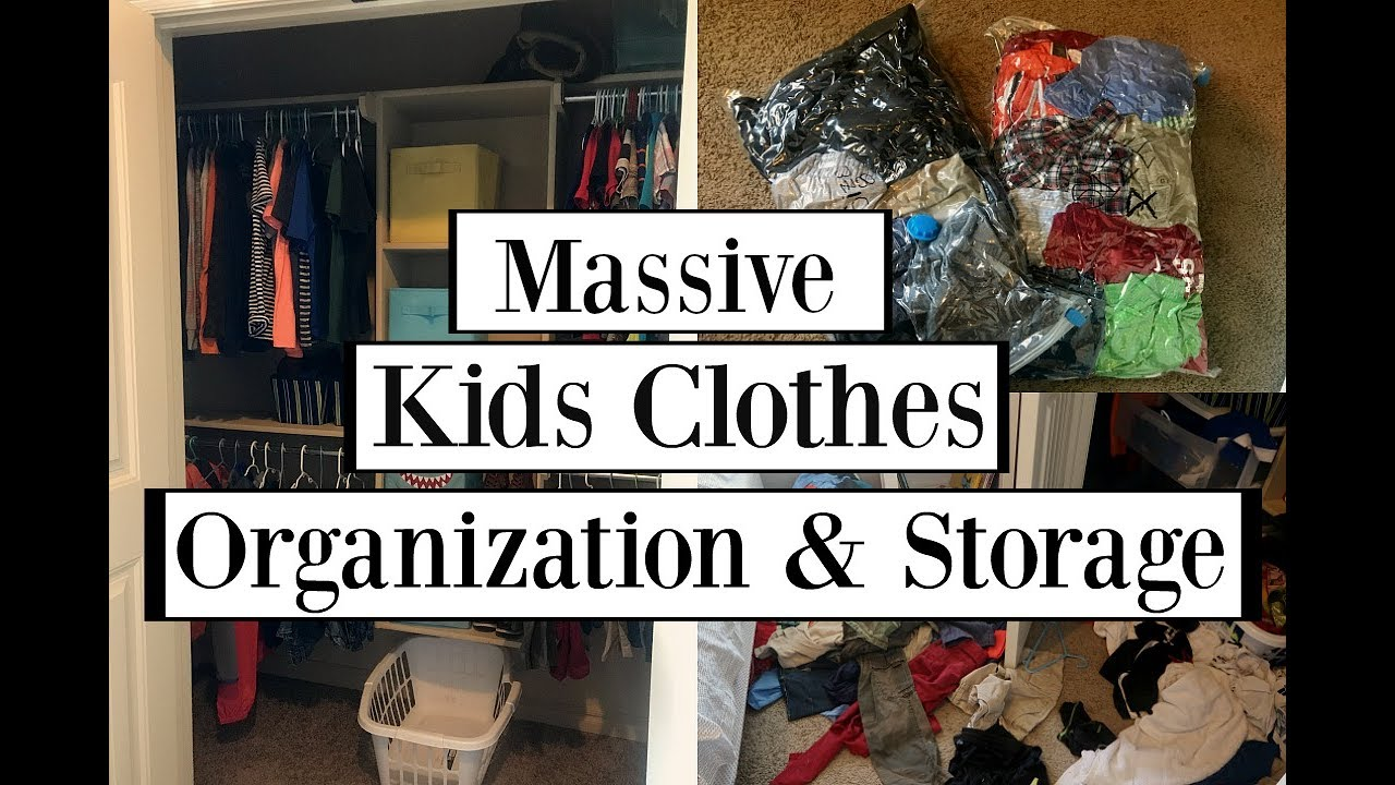 Kids Clothes Organization Storage
