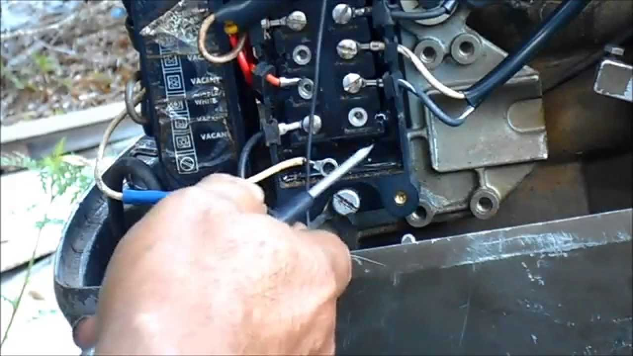 how to check a johnson and evinrude power pack