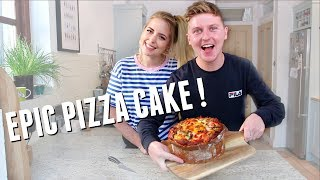EPIC PIZZA CAKE | BAKING WITH POP
