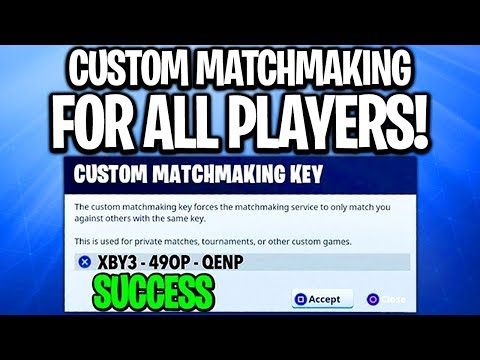 how to make custom matchmaking key in fortnite