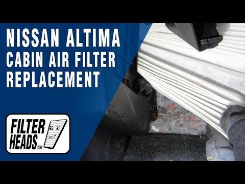 how to replace cabin air filter nissan altima 2013-2016 -