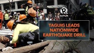 Taguig leads nationwide earthquake drill