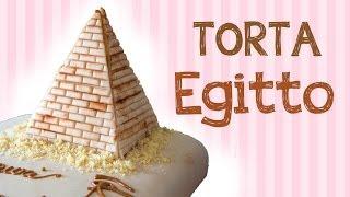 Torta Egitto in pasta di zucchero (cake design)