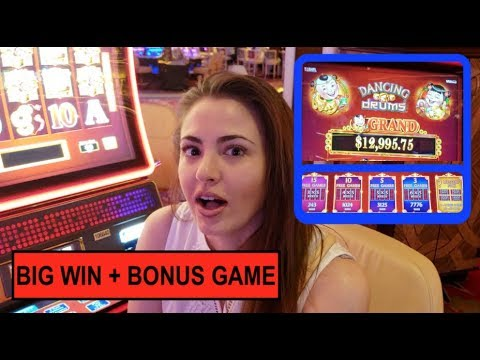 Big Win Bonus Game Dancing Drums High Limit Slot