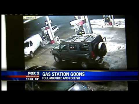 Gang's on The WestSide of Detroit Out of control Violent ATM  heist's At Gas Station!
