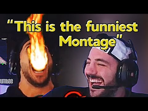 "Nickmercs Reacts to Our Montage ""We Enhanced Nickmercs With This Fortnite Edit"" - Grumbae"