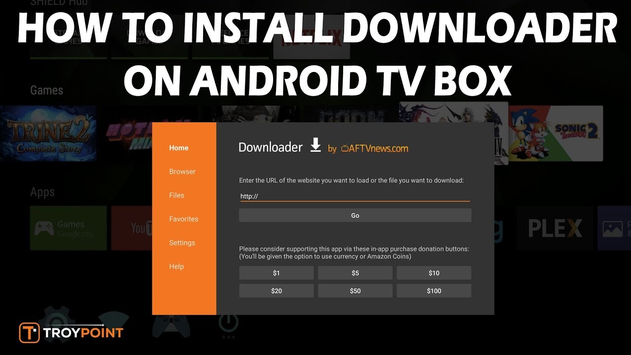 downloader on android box install