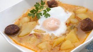 Patatas con chorizo y huevo - Karlos Arguiñano