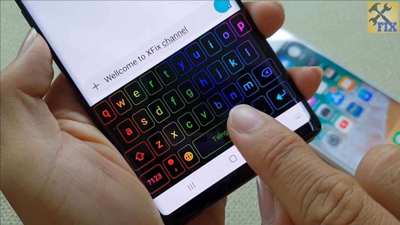 How to install RGB keyboard on Android phone