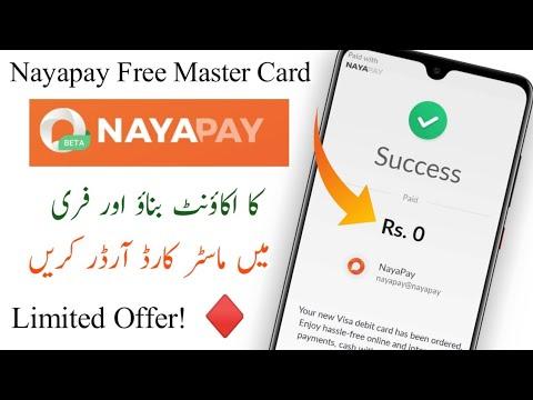 How to NayaPay Account Create||How to NayaPay  Visa master card order||