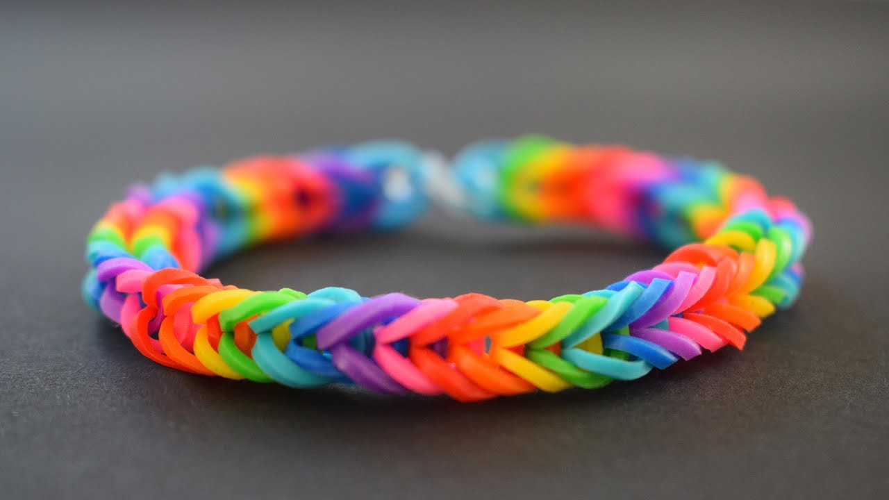 Diy How To Make Rainbow Loom Bracelet With Your Fingers Easy Tutorial Friendship Bracelet Youtube
