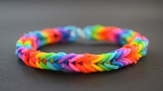 DIY - How to make Rainbow Loom Bracelet with your fingers - EASY TUTORIAL