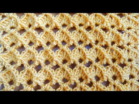 Marshmallow Shell Crochet Stitch – Right Handed Crochet Tutorial