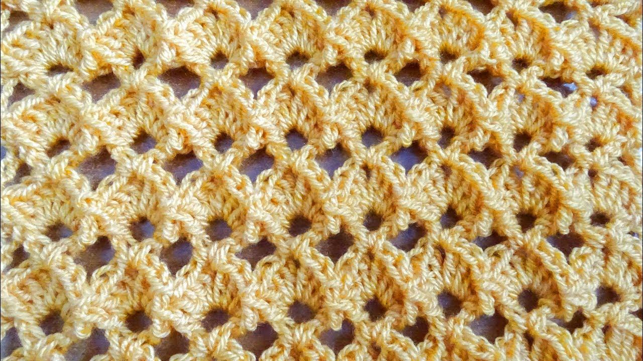Marshmallow Shell Crochet Stitch - Right Handed Crochet Tutorial ...