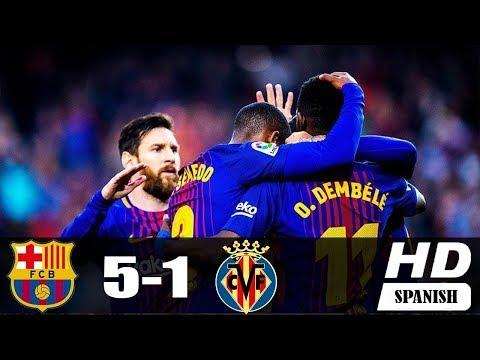 Barcelona vs Villareal 5-1 | GOLAZO MESSI | RESUMEN & GOLES | 2017/18 1080 HD