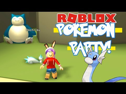 POKEMON PARTY CARD OPENING IN ROBLOX | RADIOJH GAMES