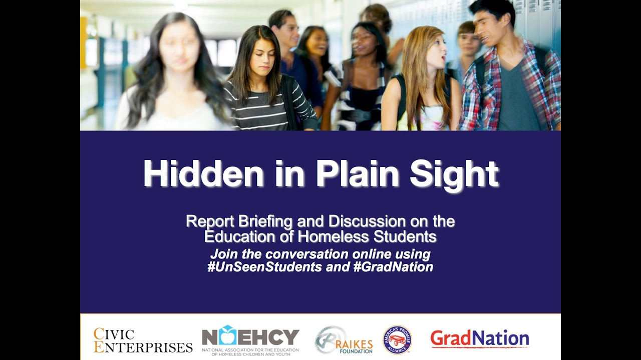 Hidden In Plain Sight Homeless Students >> Hidden In Plain Sight Webinar On Homeless Students In America S