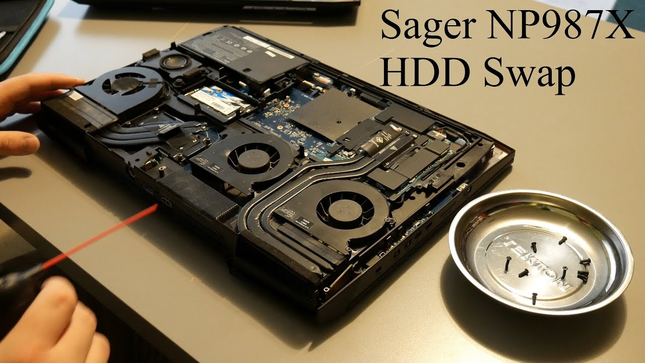Sager NP987X/Clevo P870DMX Laptop HDD Swap
