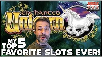 MY TOP 5 FAVORITE SLOT MACHINES TO PLAY!