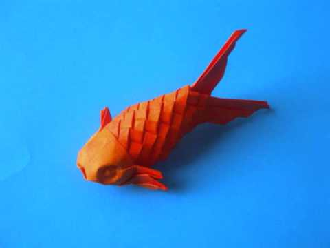 Origami scaled fish youtube for Origami koi tutorial