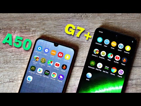 Samsung Galaxy A50 Vs Motorola Moto G7 Plus + I Speed Test