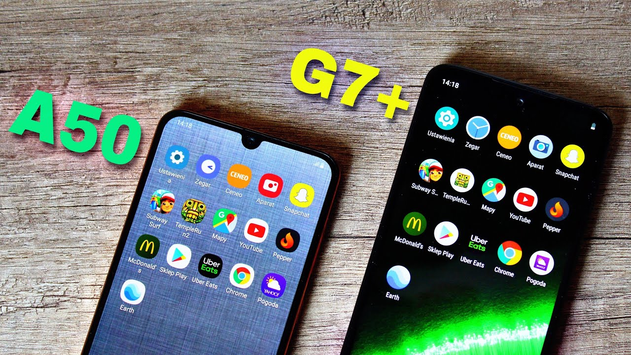 Samsung Galaxy A50 vs Motorola Moto G7 Plus +  Speed Test