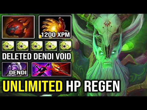 EVEN Dendi Mid Can't Stop this Necrophos | Unlimited HP Regen 1200 XPM with Heart + Midas Dota 2
