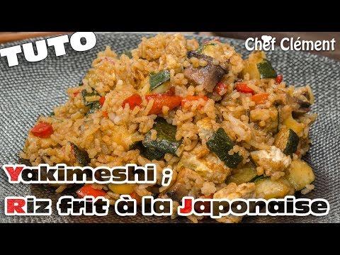 recette-japonaise-:-yakimeshi-;-riz-frit-à-la-teppanyaki---chef-clément