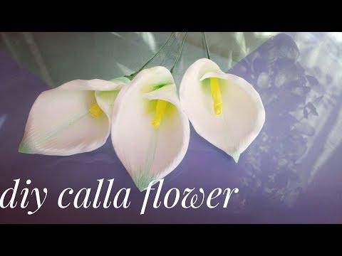 Цветок КАЛЛА из изолона для осеннего букета, DIY
