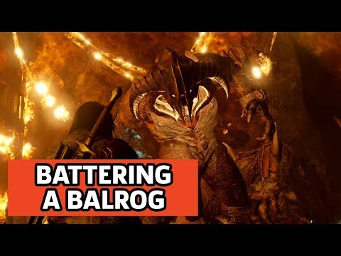 Middle-earth: Shadow Of War - Beating Up A Balrog And Side Mission Gameplay
