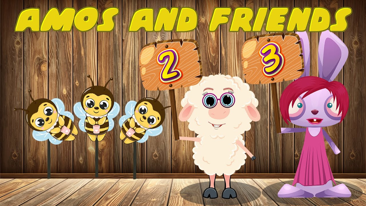 Learn 1 to 10 Numbers & Animal Names   123 Number Names Shooting Gallery #3