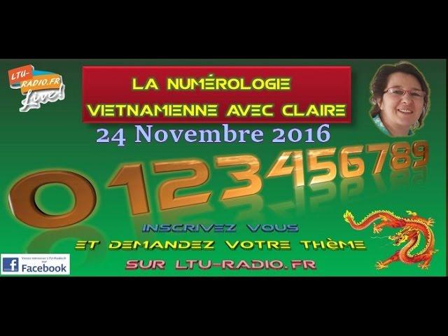 numérologie vietnamienne claire  votre thème 24 11 2016