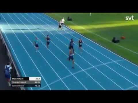 Samuel García logra el Oro en los 400 mts lisos en Suecia.