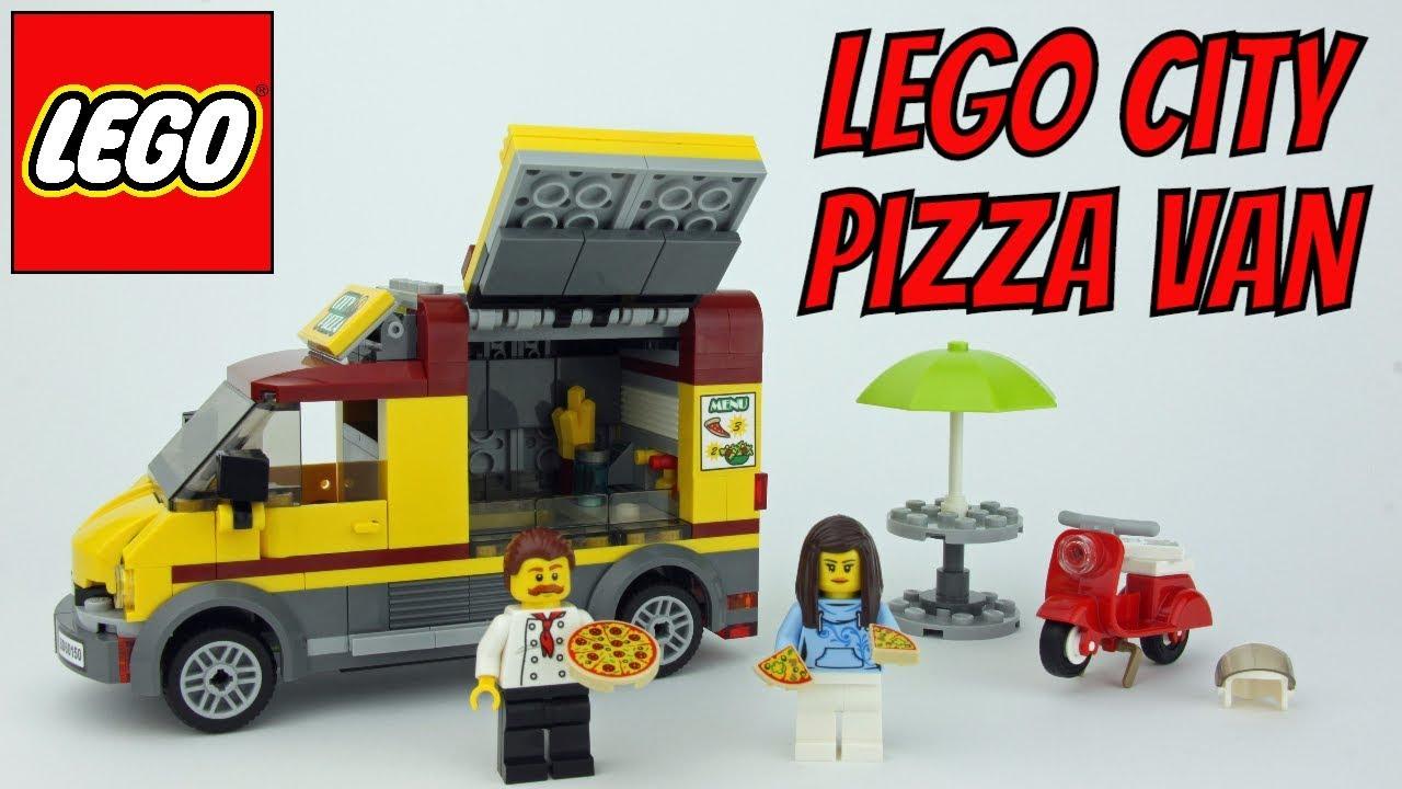 Lego City Pizza Van Unboxing Speed Build Review 60150