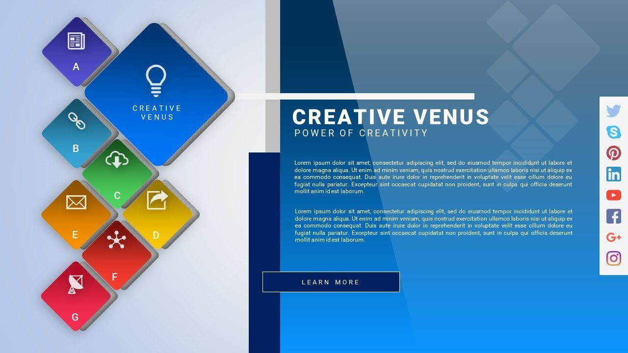 learn to design an impressive presentation slide for clients in, Presentation templates