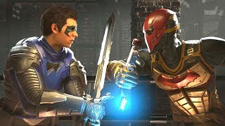 Injustice 2 - Robin Vs Red Hood - All Intro Dialogue/All Clash Quotes, Super Moves