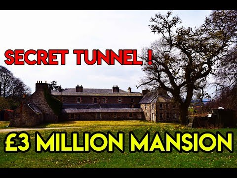 ABANDONED MILLIONAIRES MANSION WITH SECRET TUNNEL (Haunted ?)
