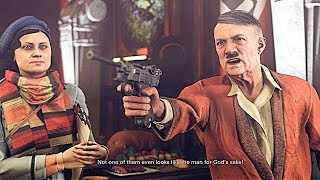 WOLFENSTEIN 2 THE NEW COLOSSUS Impersonate Actor & Perform for Hitler   infiltrate Ausmerzer Airship