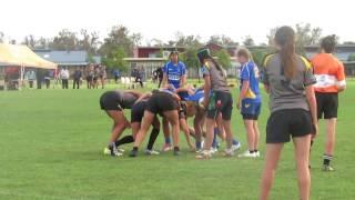 Girls Rugby Neddies u14s Slion 7s canival golden point win 2016