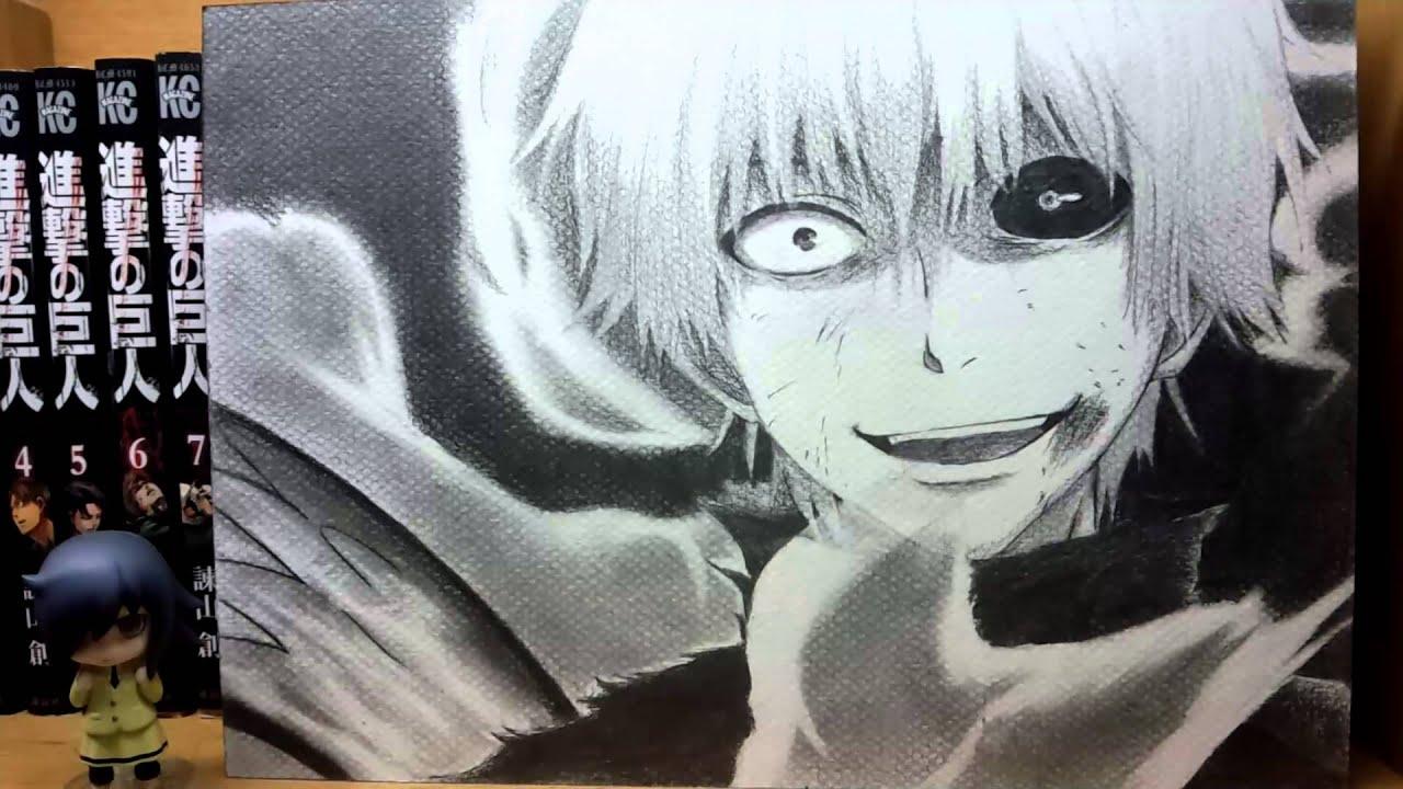 東京喰種「カネキくん描いてみた」