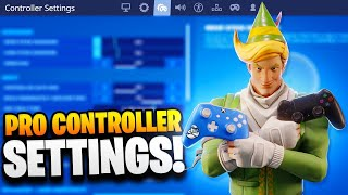 BEST CONTROLLER SETTINGS in Fortnite! PRO PLAYER SETTINGS FOR PS4/XBOX! (Fortnite Best Sensitivity)