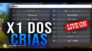 FREE FIRE - AO VIVO 🔴 X1 DOS CRIAS COM INSCRITOS! 🔥 LIVE ON 🔥 #16k