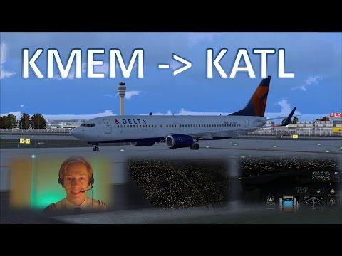✈️👨✈️ VATSIM: IFR Flight Example: Memphis to Atlanta! - FULL ATC!