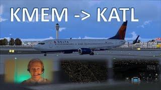 VATSIM: IFR Flight Example: Memphis to Atlanta! - FULL ATC!