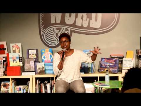 Issa Rae talks about her writing process at WORD Bookstore in Jersey City