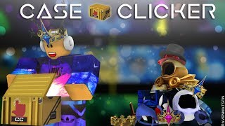ROBLOX| Case Clickers EP.1 Trying to get pink fire Domino Crown