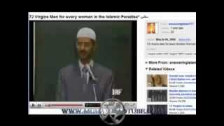 What Muslimas get in Jannah heaven? 72 men for sex?? Lair Zakir Naik says so. Refuted